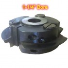 Left Hand (LH) Rail Cutter Head for Glass Doors with 1-1/4