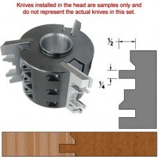 Titan Heavy Duty Insert Head complete with Carbide Knives and Steel Backers; Profile: Bevel #1