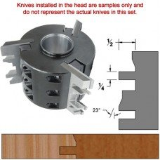 Titan Heavy Duty Insert Head complete with Carbide Knives and Steel Backers; Profile: Bevel #2