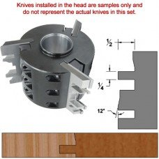 Titan Heavy Duty Insert Head complete with Carbide Knives and Steel Backers; Profile: Bevel #3