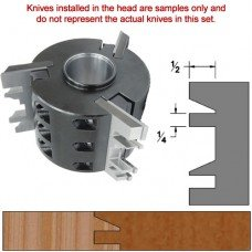 Titan Heavy Duty Insert Head complete with Carbide Knives and Steel Backers; Profile: Chamfer #2