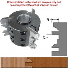 Titan Heavy Duty Insert Head complete with Carbide Knives and Steel Backers; Profile: Crown #3