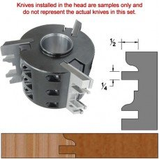 Titan Heavy Duty Insert Head complete with Carbide Knives and Steel Backers; Profile: Ogee #2