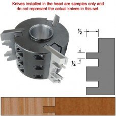 Titan Heavy Duty Insert Head complete with Carbide Knives and Steel Backers; Profile: Shaker