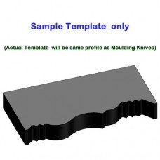 Plastic Template for Moulding Knives