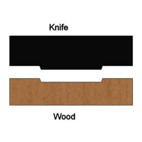 SINGLE Molding Knife for Back Relief for Baseboards and Casings MWC-BR03 (Profile Width: 1-1/2'') for Woodmaster and similar machines