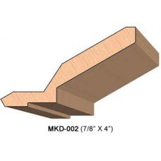 SINGLE Molding Knife for Cabinet MWC-002 (Profile Width: 4'') for Woodmaster and similar machines