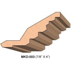 SINGLE Molding Knife for Cabinet MWC-003 (Profile Width: 4'') for Woodmaster and similar machines