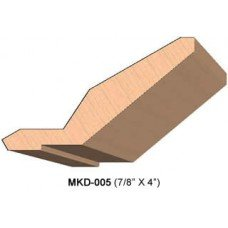 SINGLE Molding Knife for Cabinet MWC-005 (Profile Width: 4'') for Woodmaster and similar machines