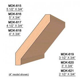 SINGLE Molding Knife for Crown MWC-621 (Profile Width: 2-1/2'') for Woodmaster and similar machines