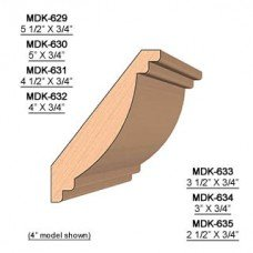 SINGLE Molding Knife for Crown MWC-630 (Profile Width: 5'') for Woodmaster and similar machines