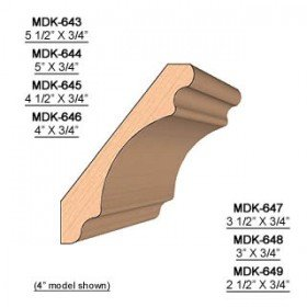 SINGLE Molding Knife for Crown MWC-643 (Profile Width: 5-1/2'') for Woodmaster and similar machines