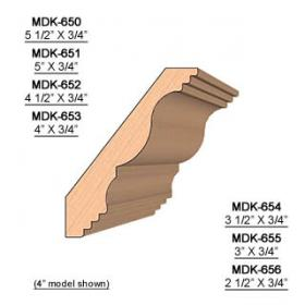 SINGLE Molding Knife for Crown MWC-650 (Profile Width: 5-1/2'') for Woodmaster and similar machines