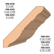 SET of 2 Molding Knives for Crown WM-4048 (Profile Width: 5'') for Williams&Hussey and similar machines