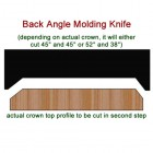 SET of 2 Molding Knives for Crown Back Angle WM-76-B (Profile Width: 1-1/2'') for Williams&Hussey and similar machines
