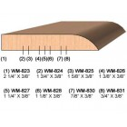 SINGLE Molding Knife for Door Stop WM-826 (Profile Width: 1-3/8'') for Woodmaster and similar machines