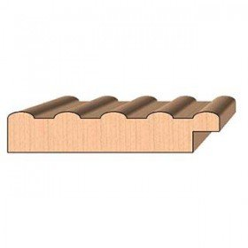 SINGLE Molding Knife for Picture Frame MWC-867 (Profile Width: 4'') for Woodmaster and similar machines