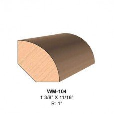 SINGLE Molding Knife for Quarter Round WM-104 (Profile Width: 1-3/8'') for Woodmaster and similar machines