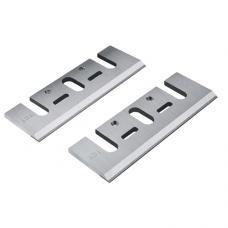 "Set of 2 Carbide Blades (Single Edge) - Length: 3-1/4"" (82mm), Width: 1-1/8"", Thickness: 1/8"""