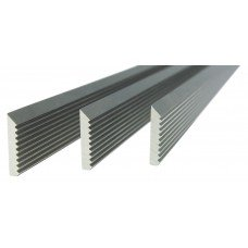 "Set of 3 HSS-V2 Corrugated Blades - Length: 15-1/2"", Width: 0.7"", Thickness: 1/8"""