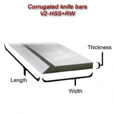 "Single Corrugated Knife Bar (V2-HSS+RW) - Length: 25"", Width: 1-1/4, Thickness: 5/16"""