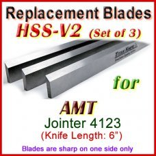 Set of 3 HSS Blades for AMT 6'' Jointer, 4123