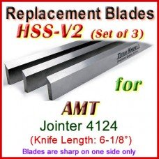 Set of 3 HSS Blades for AMT 6'' Jointer, 4124