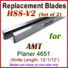 Set of 2 HSS Blades for AMT 12-1/2'' Planer, 4651