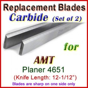 Set of 2 Carbide Blades for AMT 12-1/2'' Planer, 4651