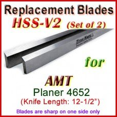 Set of 2 HSS Blades for AMT 12'' Planer, 4652