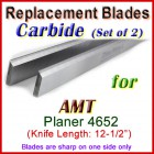 Set of 2 Carbide Blades for AMT 12'' Planer, 4652