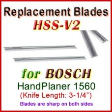Set of 2 HSS Blades for Bosch 3'' Handheld Planer, 1560