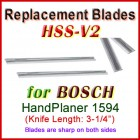 Set of 2 HSS Blades for Bosch 3'' Handheld Planer, 1594