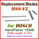 Set of 2 HSS Blades for Bosch 3'' Handheld Planer, 1594K