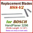 Set of 2 HSS Blades for Bosch 3'' Handheld Planer, 3296