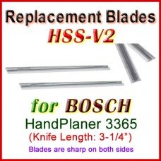 Set of 2 HSS Blades for Bosch 3'' Handheld Planer, 3365