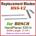 Set of 2 HSS Blades for Bosch 3'' Handheld Planer, 53514