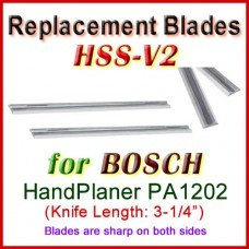 Set of 2 HSS Blades for Bosch 3'' Handheld Planer, PA1202