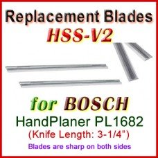 Set of 2 HSS Blades for Bosch 3'' Handheld Planer, PL1682