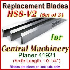 Set of 3 HSS Blades for Central Machinery 10'' Planer, 41921