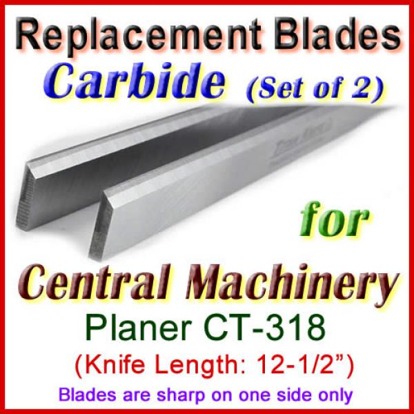 Set Of 2 Carbide Blades For Central Machinery 12 Planer