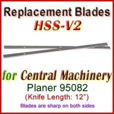 Set of 2 HSS Blades for Central Machinery 12'' Planer, 95082