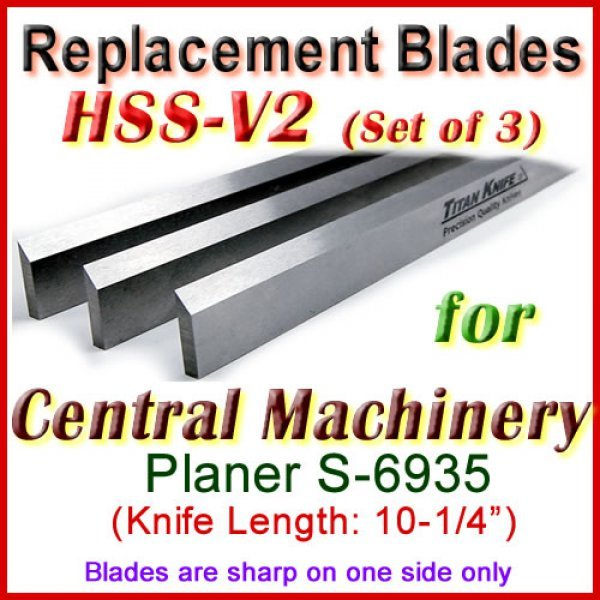Set Of 2 Hss Blades For Central Machinery 10 Planer S 6935