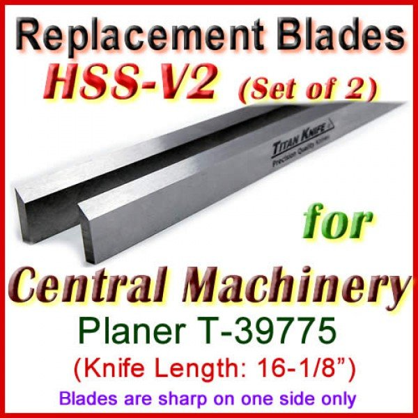 Set Of 2 Hss Blades For Central Machinery 16 Planer T 39775