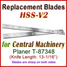 Set of 2 HSS Blades for Central Machinery 13'' Planer, T-87348