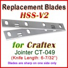 Set of 2 HSS Blades for Craftex 6'' Jointer, CT-049