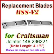 Set of 2 HSS Blades for Craftsman 4'' Jointer, 149.236221