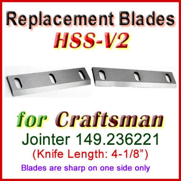 Set Of 2 Hss Blades For Craftsman 4 Jointer 149 236221
