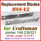 Set of 2 HSS Blades for Craftsman 5'' Jointer, 149.236321