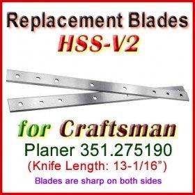 Set of 2 HSS Blades for Craftsman 13'' Planer, 351.275190